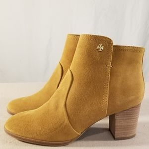 Tory Burch Camel Color Suede Ankle Boots
